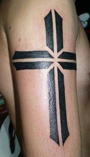 cross tattoo men ideas