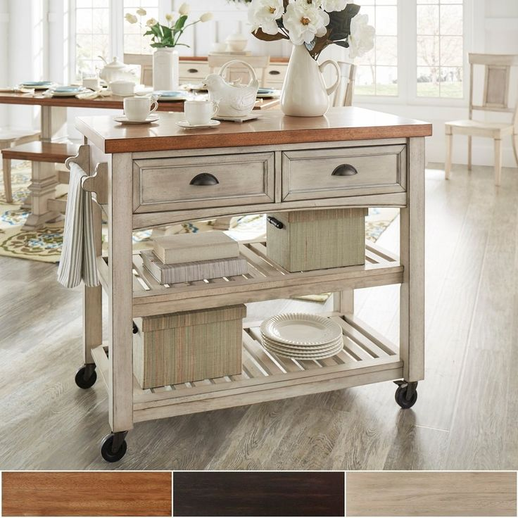 17 Best ideas about Rolling Kitchen Island on Pinterest