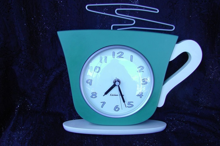 1950's Retro Kitchen King Coffee Cup Wall Clock...