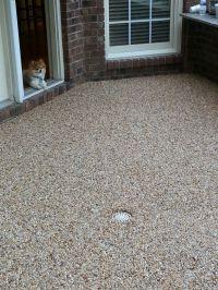 Epoxy pebble patio floor | Backyard envy & Helps ...