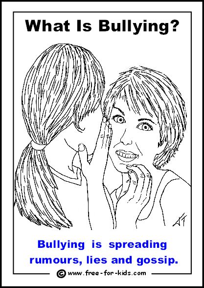 Bullying, Colouring pages and Form of on Pinterest