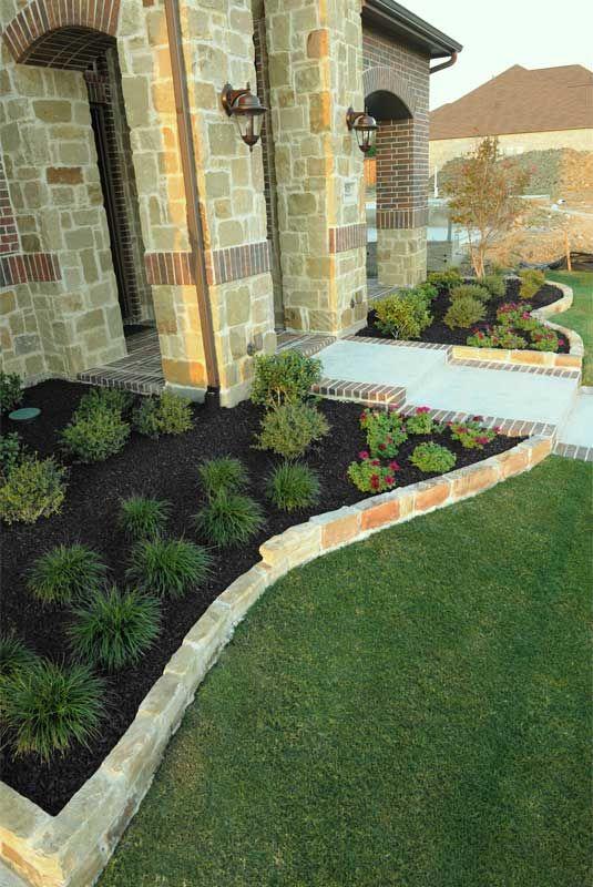 black mulch landscaping pics