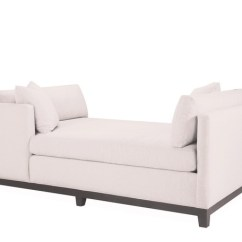 Kensington Chaise Sofa Bed White Leather Convertible Double From Lee Industries - Chaises | Products ...