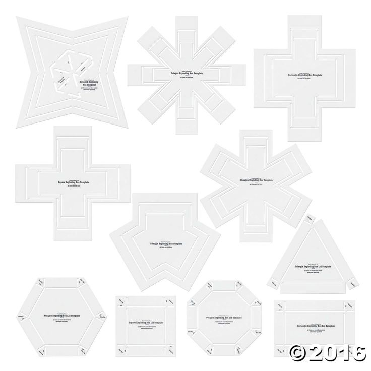 Exploding Box Stencil Templates. Includes plastic hexagon