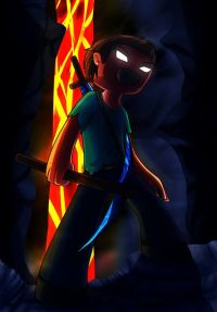 Minecraft infamous Herobrine fan art! #minecraft #