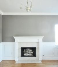 Wall is painted in Rockport Gray by Benjamin Moore. | Pick ...