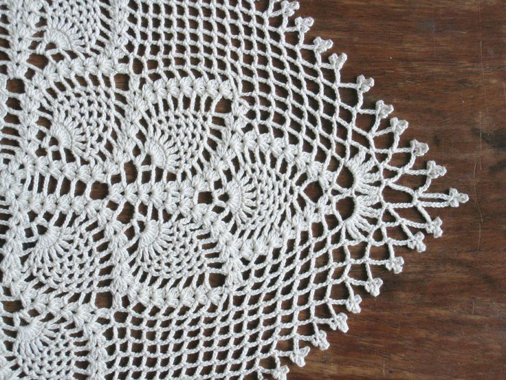 Patterns Scarf Pineapple Lace Crochet