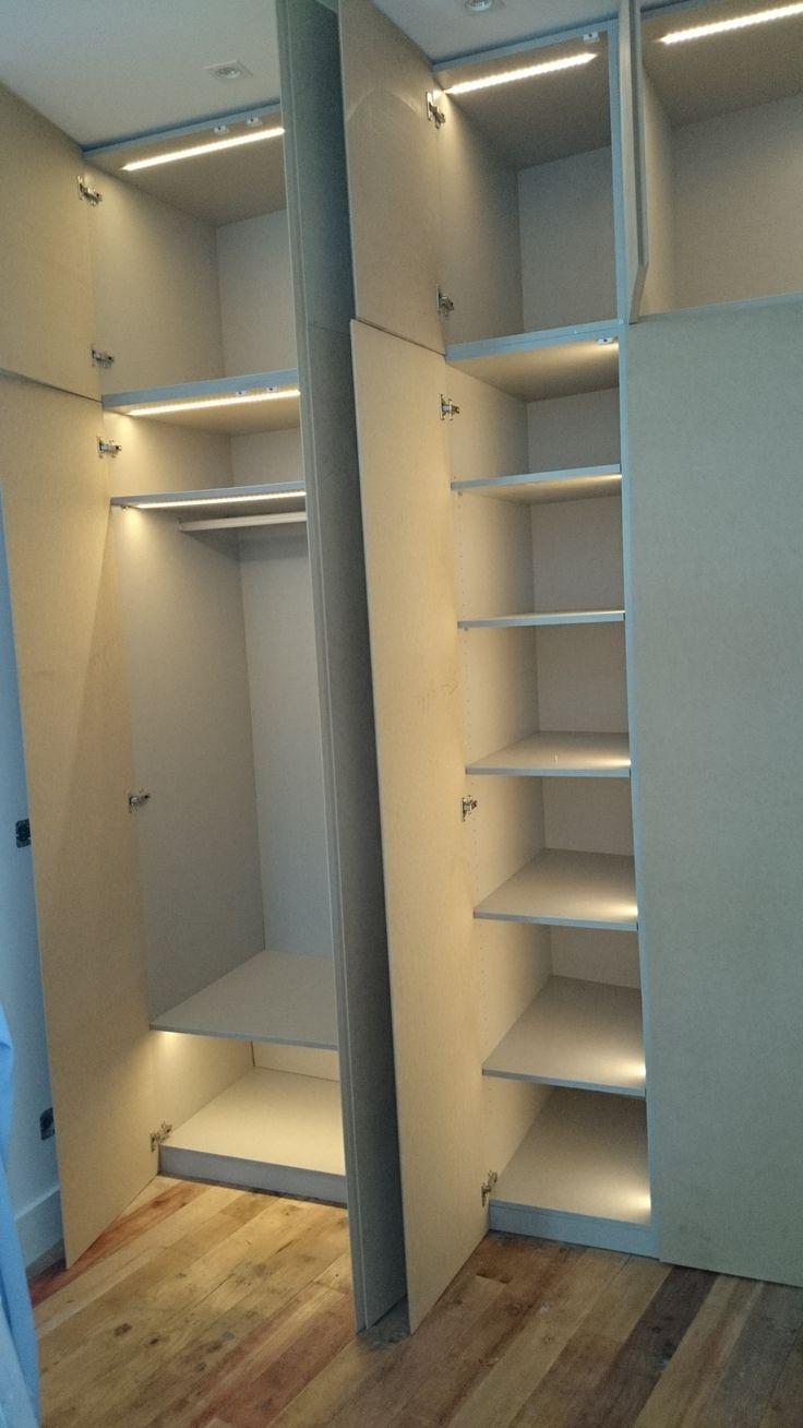 kitchen cupboard doors pantry storage cabinet armario con iluminación led integrada. la instalación re ...
