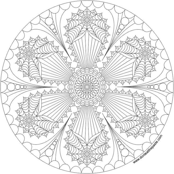 17 Best images about Coloring-Mandalas on Pinterest