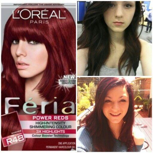 Loreal Feria R48 Red Velvet Results Beauty Tips