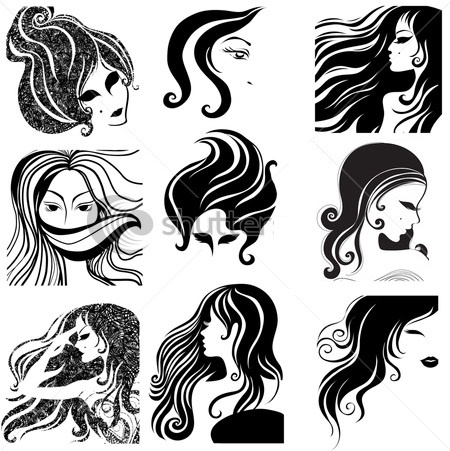 66 best images about 1s Hair Silhouettes on Pinterest