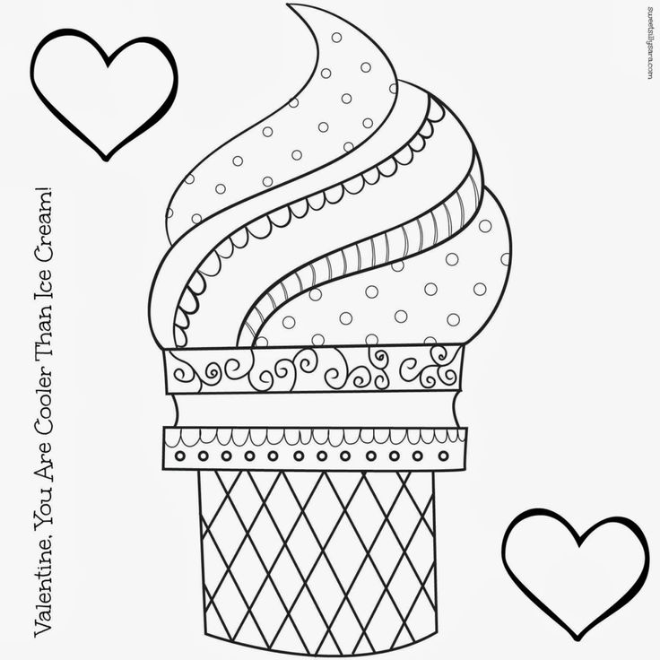 78 Best ideas about Ice Cream Coloring Pages on Pinterest