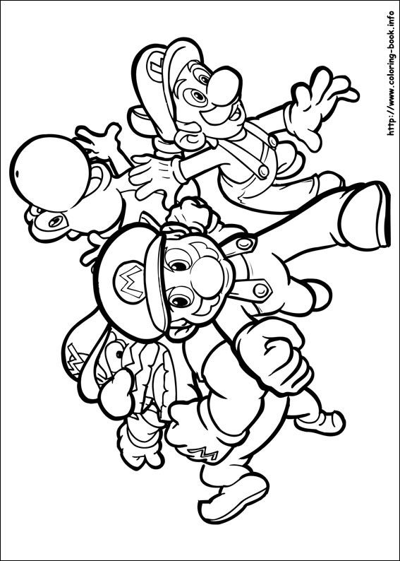 super mario bros. coloring picture  coloring for kid