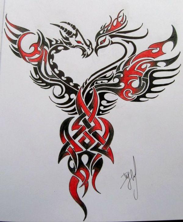 dragon and phoenix.idea love