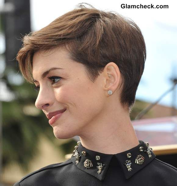 25 best ideas about Anne hathaway pixie on Pinterest  Anne hathaway haircut 2014 pixie cuts