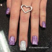 purple and silver colored glitter