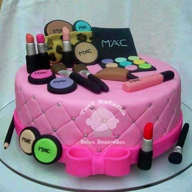 Mac Makeup Cake Make Up And Designs Pinterest