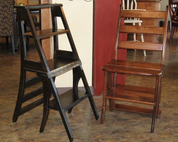 library chair ladder plans covers hire auckland convertible wooden step stool - woodworking projects &
