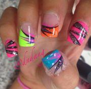 ideas colorful nail