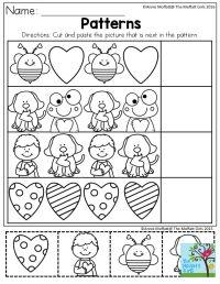 Pattern Worksheets For Kindergarten Cut And Paste ...