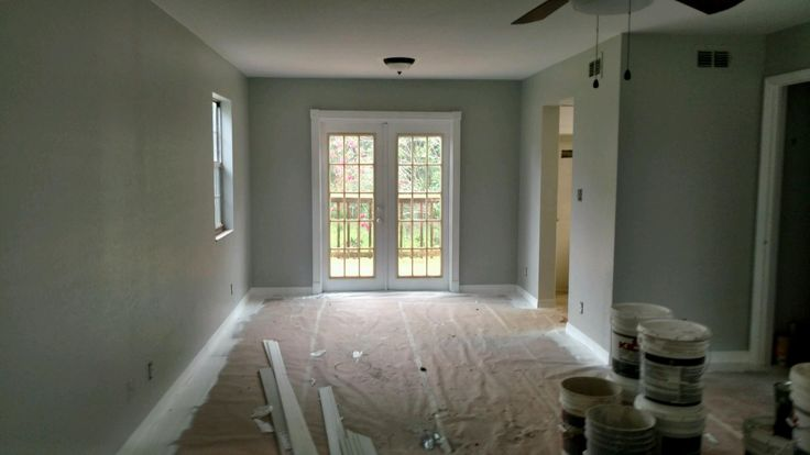 gray and blue living room ideas orange decor painting with behr paint, walls heath n380-2 ...