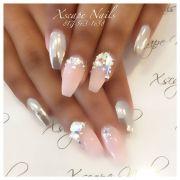 chrome nails cute design