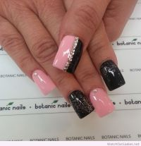 1000+ ideas about Pink Black Nails on Pinterest
