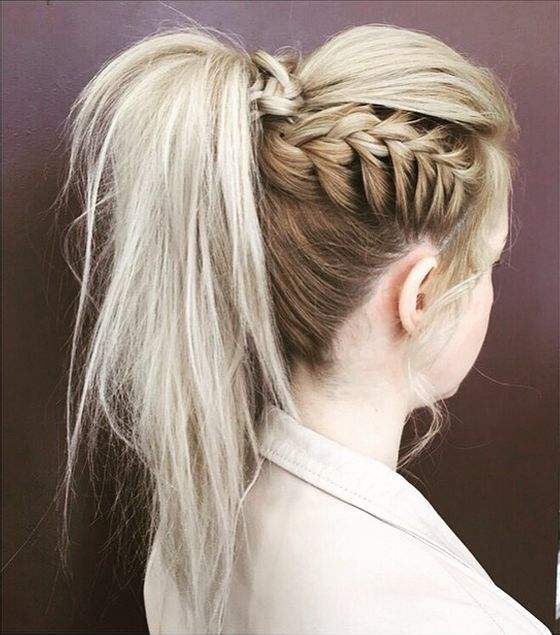25 Best Ideas About Braided Ponytail On Pinterest French