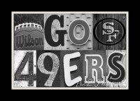 Go 49ers letter art Print by a2zphotography on Etsy, $20 ...