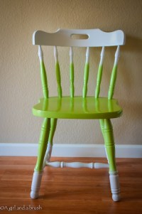 Green and white ombre chair | Stuff you can't get at IKEA ...