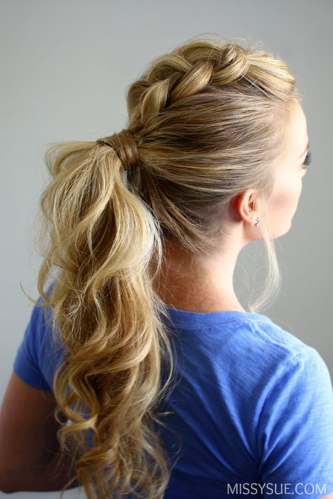 25 Best Ideas About Braided Ponytail Hairstyles On Pinterest