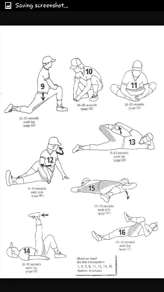Softball Stretching Routine Pictures to Pin on Pinterest