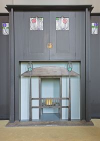 Fireplace at the Arts Lovers House by Mackintosh ...
