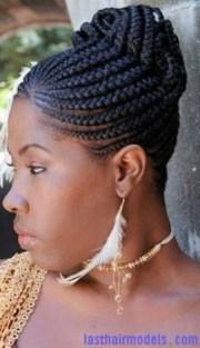 cornrow bun natural hairstyles