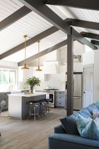 Best 25+ Painted beams ideas on Pinterest | Dark wood ...