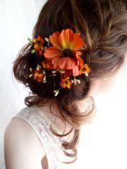 fall wedding hair clip autumn