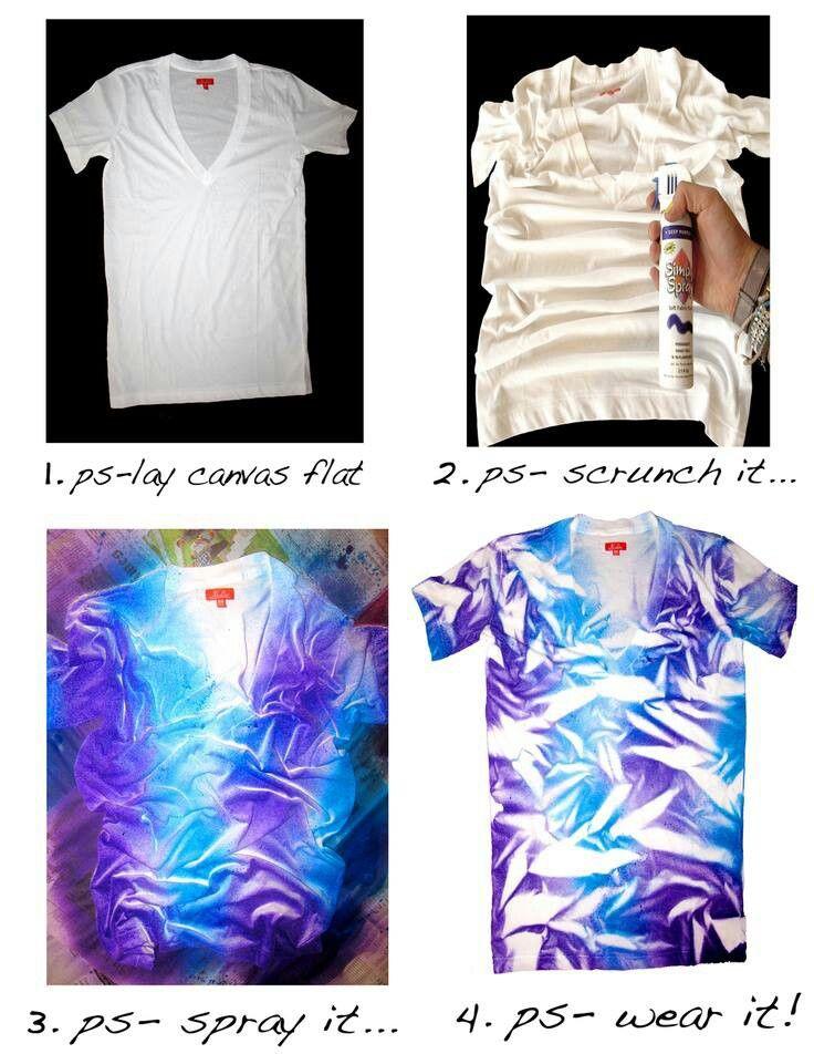 Diy scrunch tiedye shirt pictorial crafty ideas