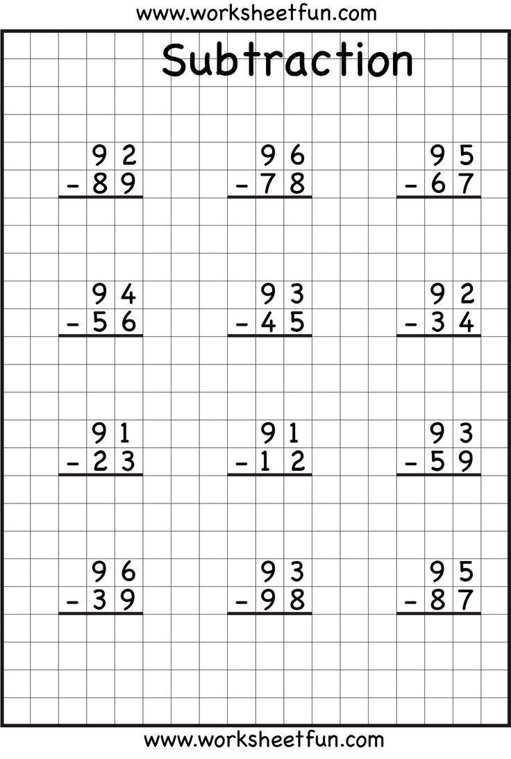 hight resolution of Subtraction With Regrouping Worksheets