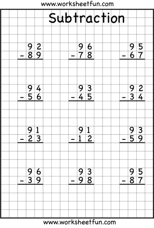 small resolution of Subtraction With Regrouping Worksheets