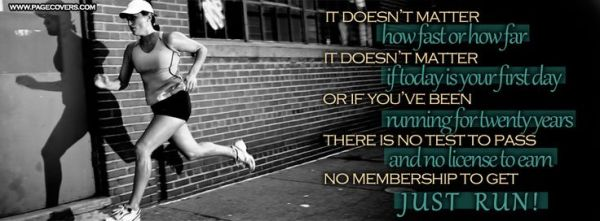 running quotes Inspirational Quotes Facebook Covers