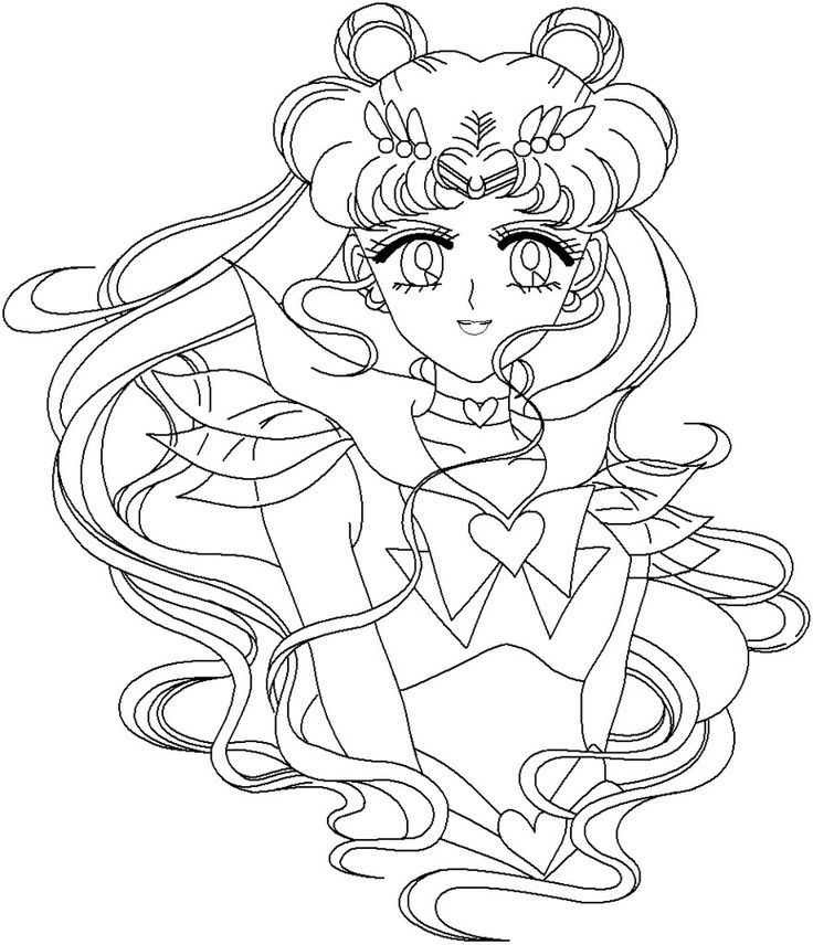 104 Best Sailor Moon Coloring Pages Images