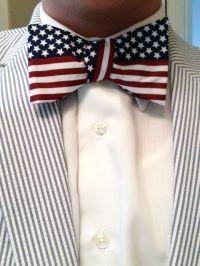 american flag bowtie | U.S.A | Pinterest | An, Seersucker ...