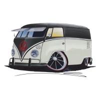 VW Splitty Panel Van (RB) | Sticker | Buses, Tattoo ideas ...
