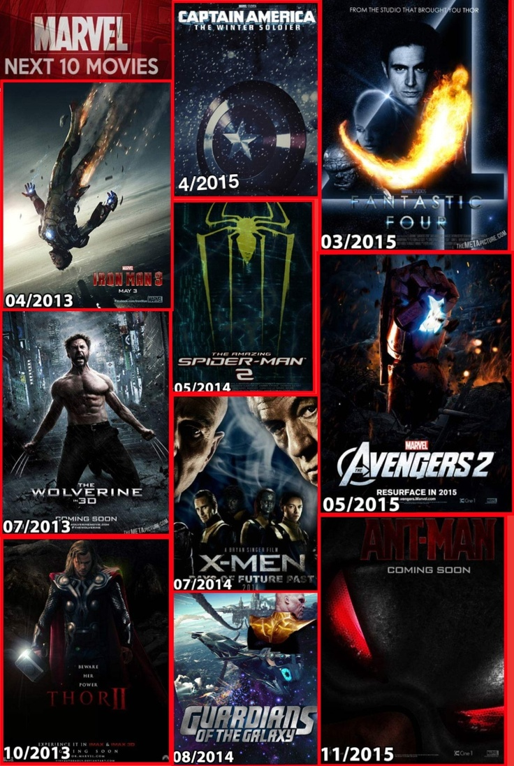 2013 2015 Marvel Movies New Movies 2014 Pinterest