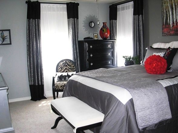25+ Best Grey Red Bedrooms Ideas On Pinterest