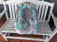 Car Seat Canopy With Peek-A--Boo Opening, Appliqued ...