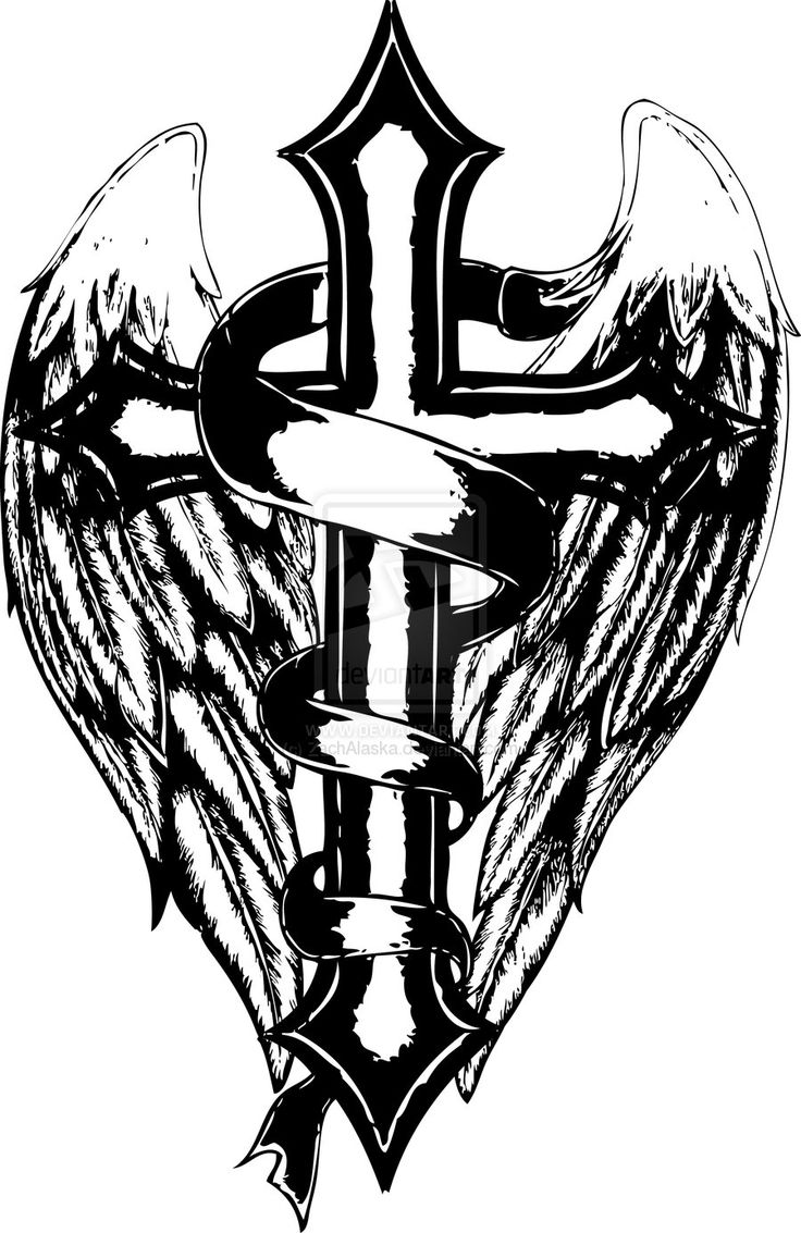 crosses wings and coloring pages on pinterest