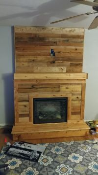 1000+ ideas about Pallet Fireplace on Pinterest | Wood ...