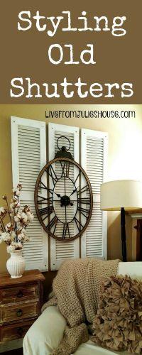 25+ best ideas about Old shutters decor on Pinterest ...
