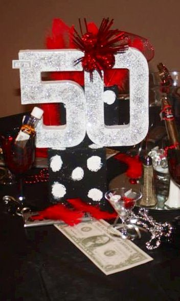 DIY Table Centerpiece The Godfather Themed 50th & 25th